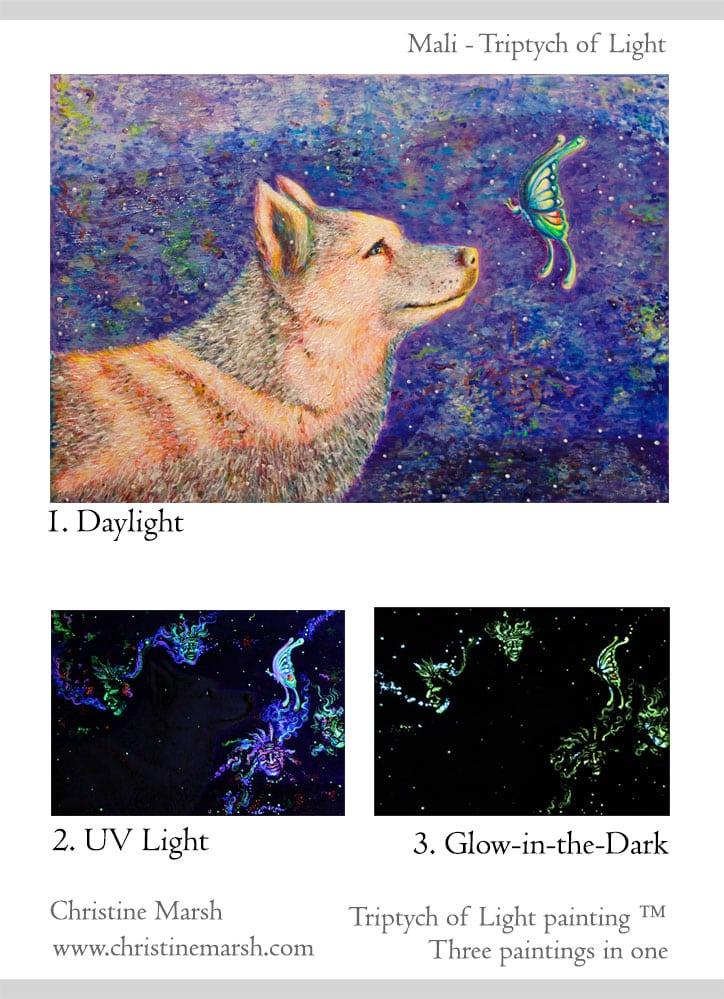 Triptych of Light Mali by Christine Marsh