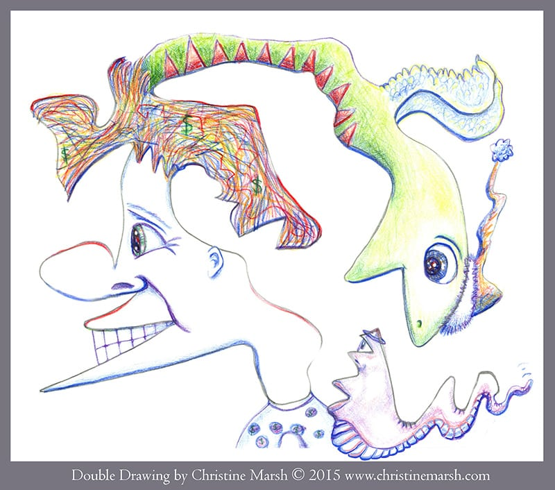 double-drawing-by-christine-marsh