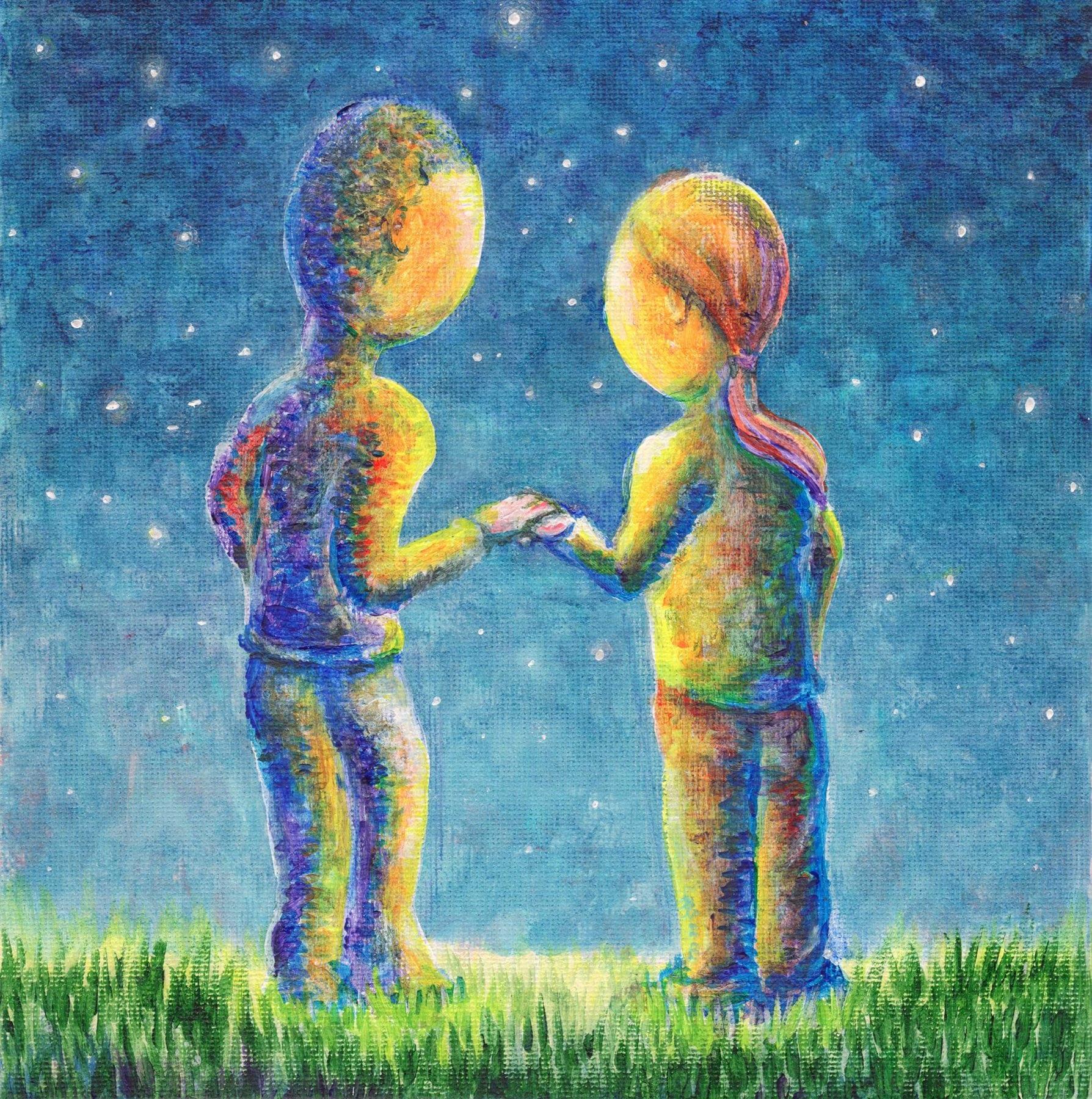Stargazers - Acrylic painting by Christine Marsh