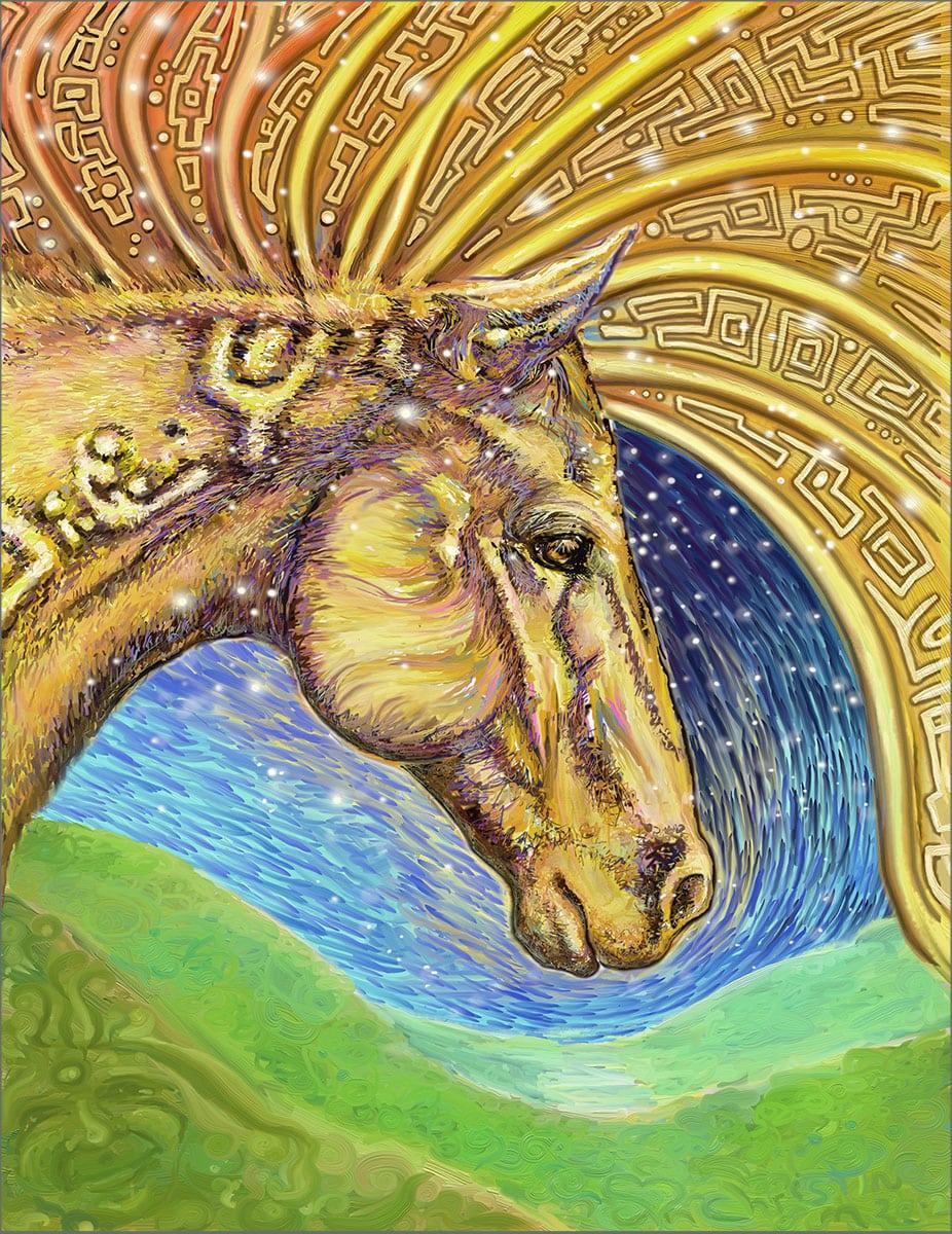 Maloca - Digital Horse Art by Christine Marsh