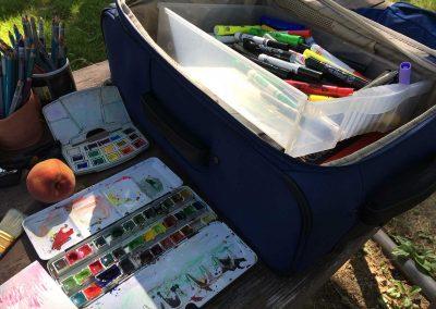Art suitcase
